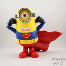 HIOT! Superman Minions NEW Toy Despicable Minion In Action Figures Minions Toys Doll Wholesale Decoration Toy Free Shipping