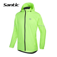 Santic Spring Summer Cycling Jersey Men SPF30 Waterproof Bike Jersey Foldadble Windproof Bicycle Jersey Cycling Clothing