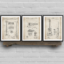 Pósteres e impresiones clásicas de patente de guitarra cuadro sobre lienzo para pared cuadros Retro Para sala de estar decoración del hogar