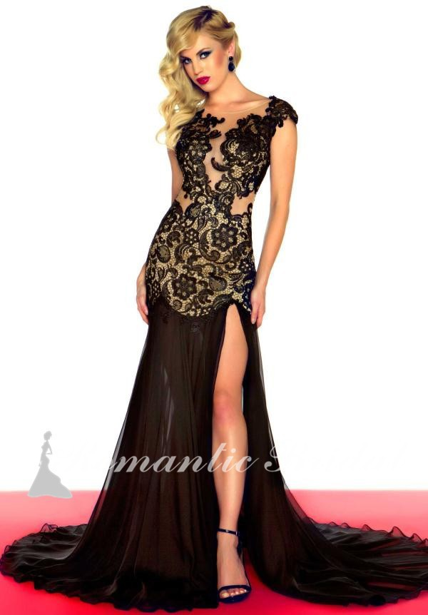 Compare Prices on Black and Gold Prom Dress with Slit- Online ...