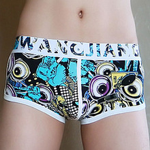 Mens Floral Boxer Shorts Underwear Causal Shorts Fashion Boxers Cotton Underpants Gay Flower Print Penis Pouch Male Homewear flower print shorts
