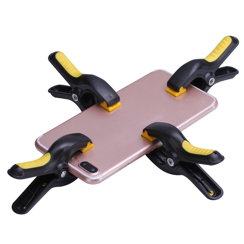 4pcs/lot Plastic Clip Fixture LCD Screen Fastening Clamp For Iphone Samsung iPad Tablet Cell Phone Repair Tool Kit g clamp c clip clip d shaped fixture forged steel rocker abrasive tools