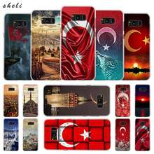 Turquía Estambul de bandera transparente Note 10 9 pro funda dura para Samsung Galaxy S4 S5 S6 S7 S8 S9 Plus Edge Mini s10 lite(China)