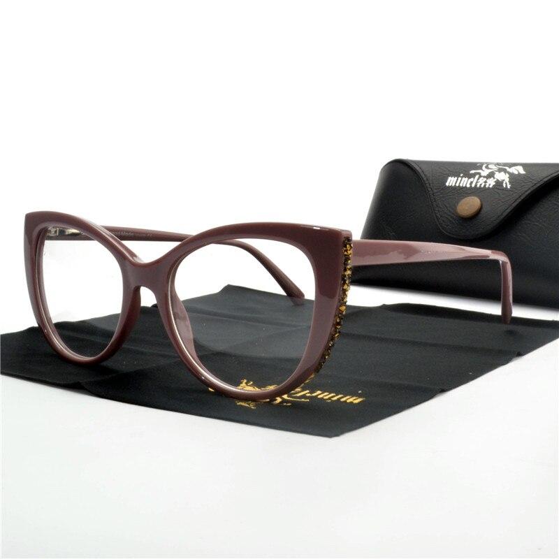 Hart Arbeitend Mincl Katze Strass Brille Rahmen Männer Frauen Optische Mode Computer Brille Mode Sonnenbrille Rahmen Dekorative Nx Kaufe Eins Bekomme Eins Gratis Brillenrahmen