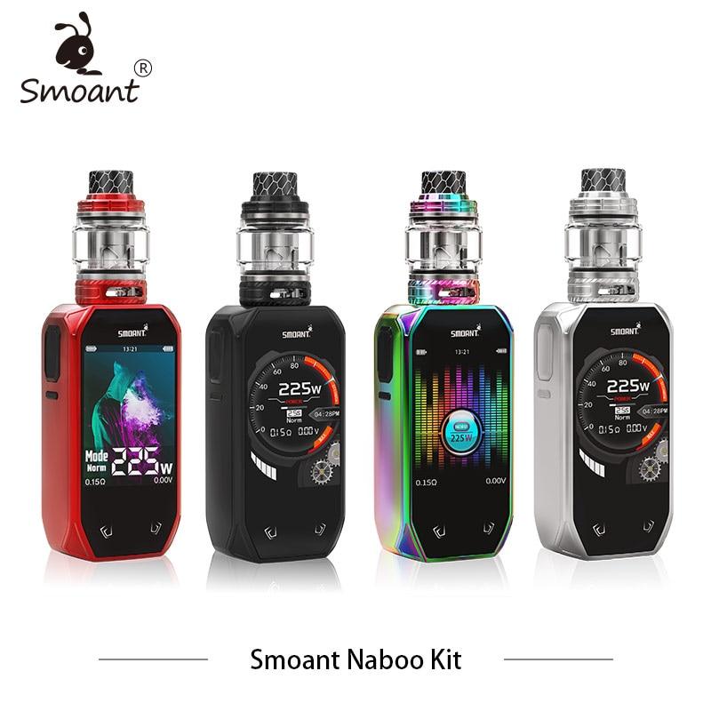 New Smoant Naboo Kit Dual battery 225w Box Mod Kit with 4ml Naboo subohm Tank Mesh