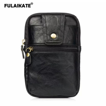 FULAIKATE 6.5 Retro Striae Universal Waist Bag for Xiaomi MI Max2 Card Pocket Business Pouch Redmi Note 5 Pro Phone Case