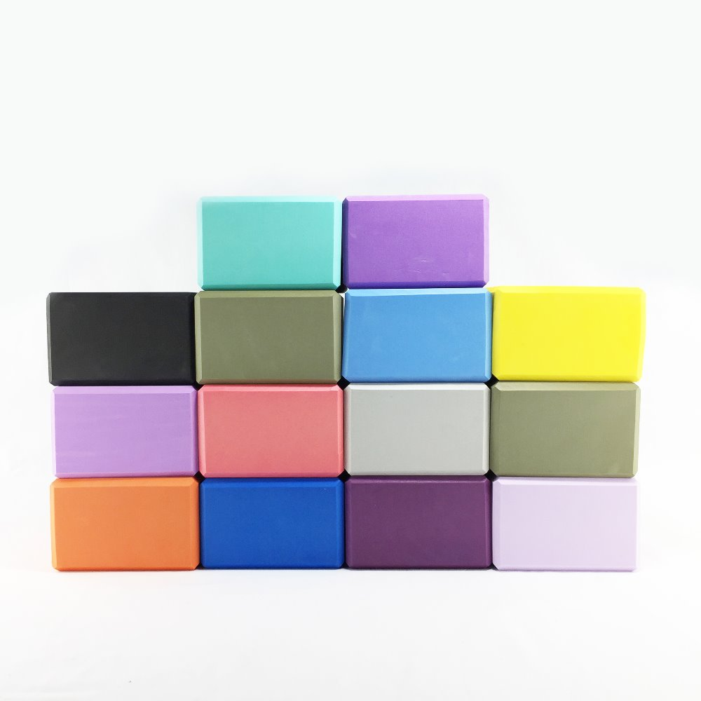 13 Colors Available Yoga Blocks EVA High Density 4*6*9Inch Gym Equipment Exercise Brick Improving Strength & Deepen Poses