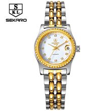 New mini SEKARO watches women stainless steel automatic mechanical watches ladies fashion brand wrist watch waterproof calendar