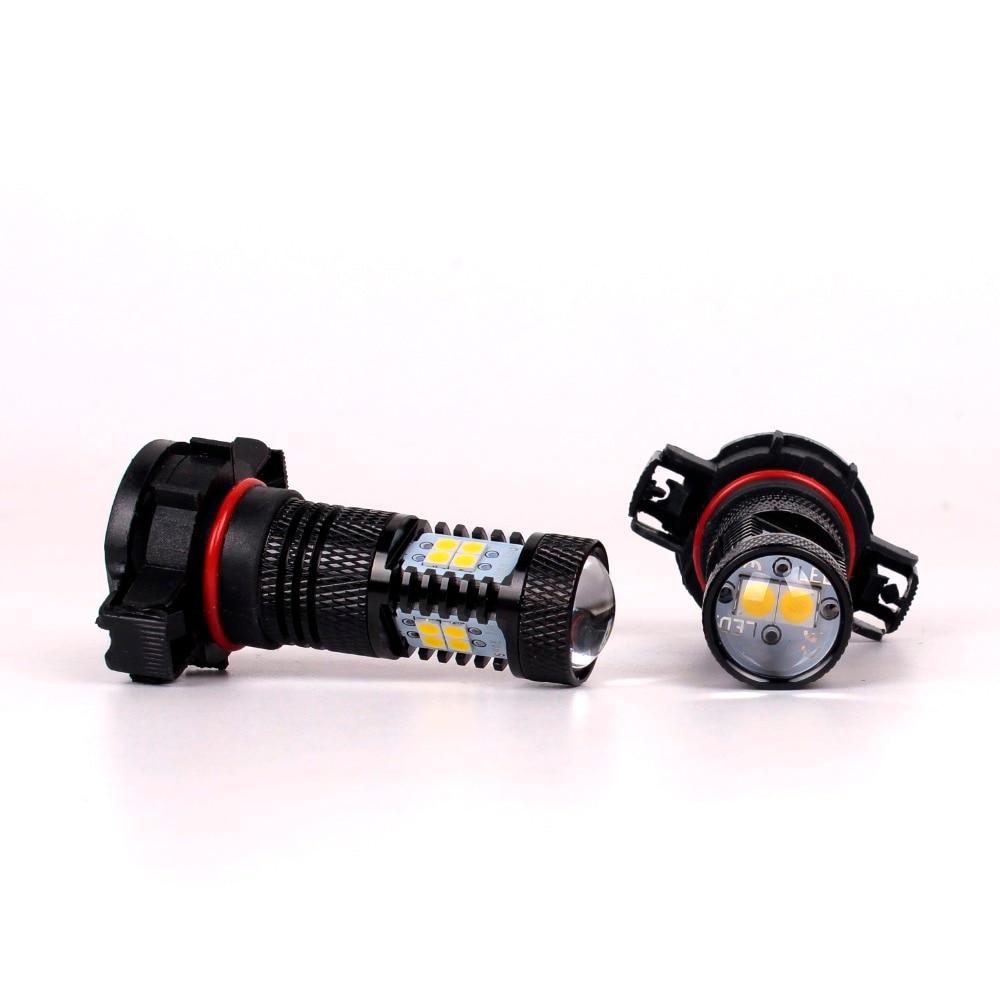 CN360 2PCS υψηλής ισχύος λευκό H16 5202 LED φώτα - Φώτα αυτοκινήτων - Φωτογραφία 2