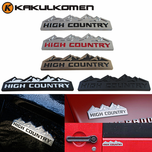High Country Car Styling Refitting Badge Snow Mountain Emblem Decal