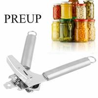PREUP Multifunction Stainless Steel Professional Tin Manual Can Bottle Opener Craft Beer Grip Jar Opener Kitchen