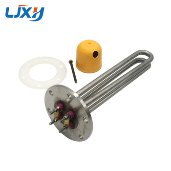 LJXH Heating Element for Oil 220V Flange Disc Type,1KW/2KW Stainless Steel Heating Pipe for Heat-conducting Oil Stove