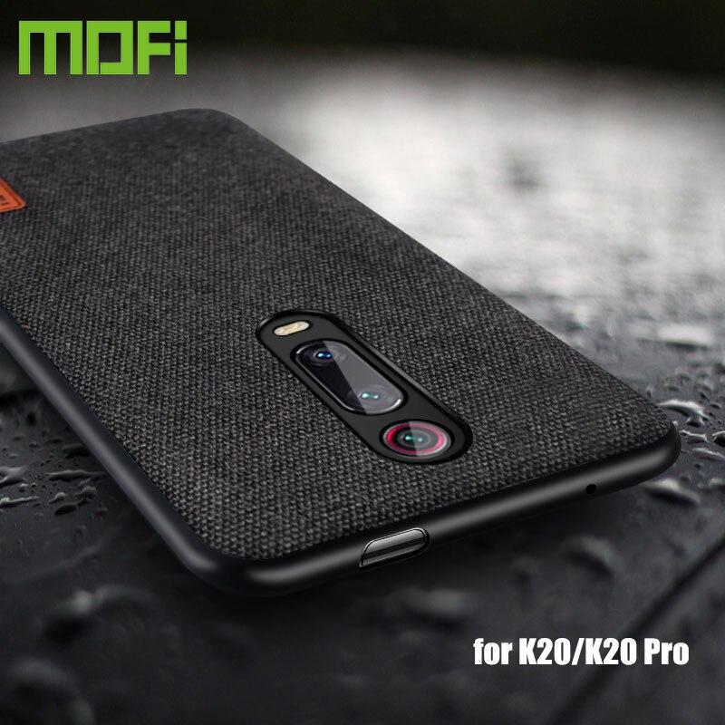 Para xiaomi redmi caso capa MOFi original k 20 k20 de volta pano de tecido capas de silicone coque redmi k20 pro capas protetoras
