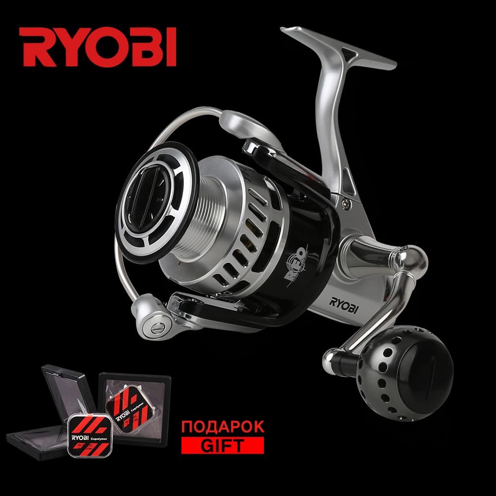 RYOBI TT. Puissance 4000 6000 8000 5.0: 1 7BB 100% Original en métal eau salée Super puissance 10 kg de Long pêche en mer moulinets de filature