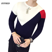 Autumn New Arrival Patchwork font b Sweaters b font font b Men b font Gentleman Korean