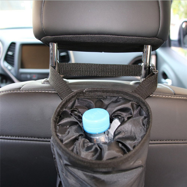 2 PACK Car Trash Bags Can Washable Leakproof Eco Friendly Seatback Truck Hanging