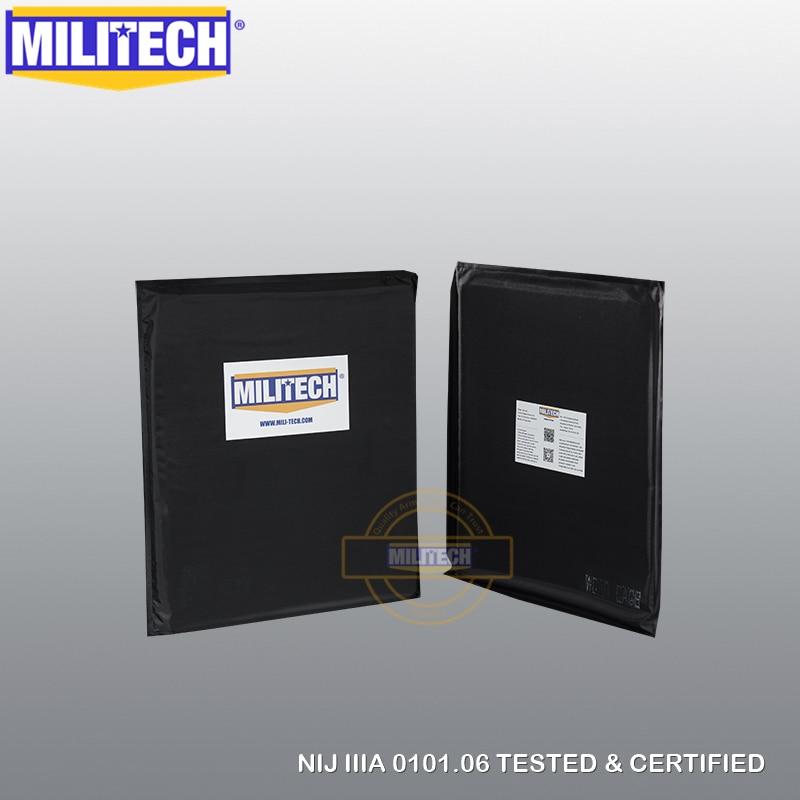 Ballistic Panel BulletProof Plate NIJ Level 3A &NIJ 0101.07 Level HG2 10 X 12 Rectangle Cut Pair Aramid Soft Body Armor-MILITECH