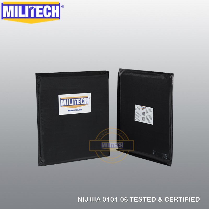 NIJ Level IIIA 3A Ballistic Panel BulletProof Plate Inserts Two PCS 10'' X 12'' SC Cut Aramid Soft Armour Body Armor--MILITECH