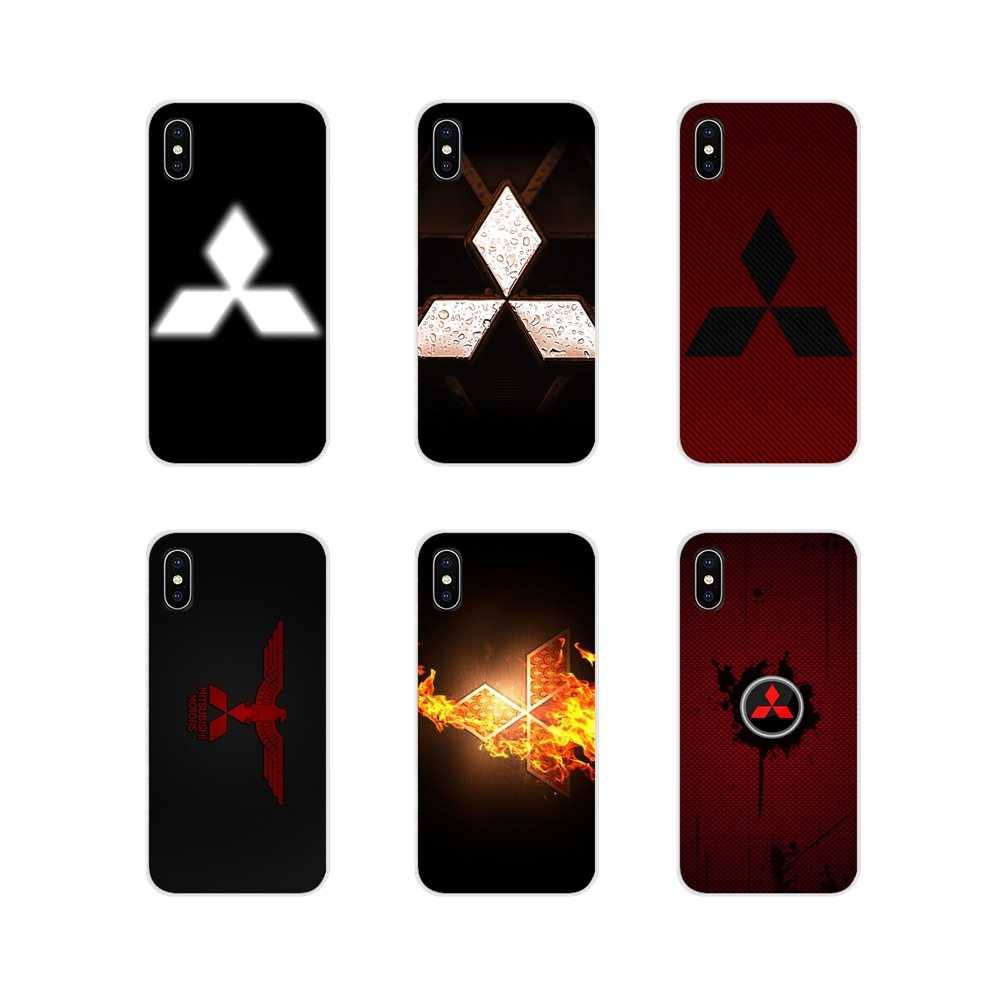 Mitsubishi logo Voor Apple iPhone X XR XS MAX 4 4 S 5 5 S 5C SE 6 6 S 7 8 Plus ipod touch 5 6 Accessoires Telefoon Gevallen Covers