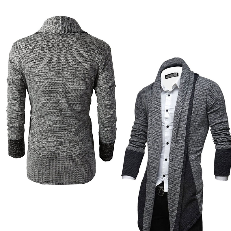 New Brand Fashion Knitted Cardigan Long Sleeve Men Sweater Coat Streetwear Windbreaker Coat Men Male Elastic Sweater