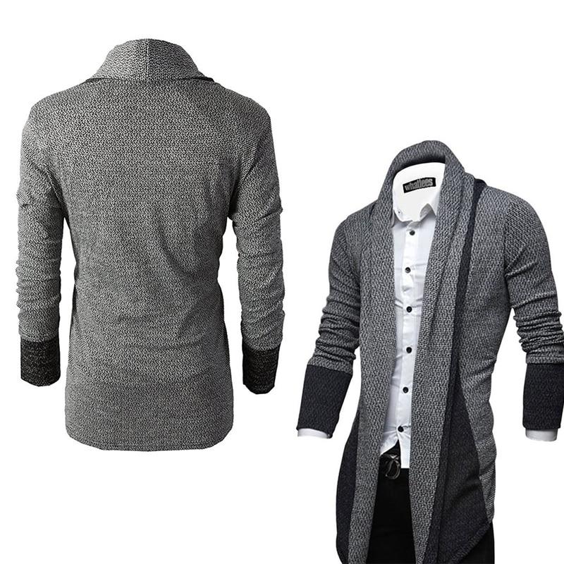 New Brand Fashion Knitted Cardigan Long Sleeve Men Sweater Coat Streetwear Windbreaker Coat Men Male Elastic Sweater