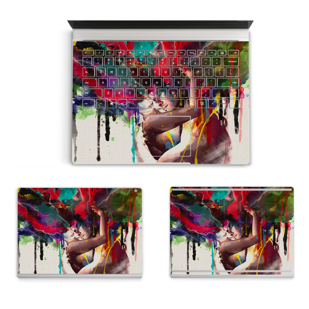 2017 Hot Laptop Imagination Brain Sticker For Micro Surface Book Top Bottom Vinyl Decal+US Keyboard Sticker Skin Logo Cut Out colorful laptop sticker decal skins for macbook 11 13 15 17 inch sticker for mac book rainbow logo free shipping new arrival