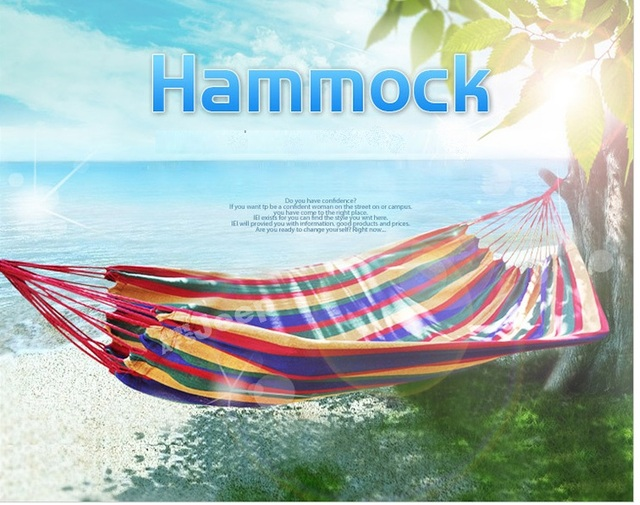 Cotton Fabric Hammock Chair Hunging Swinging Camping Foldable