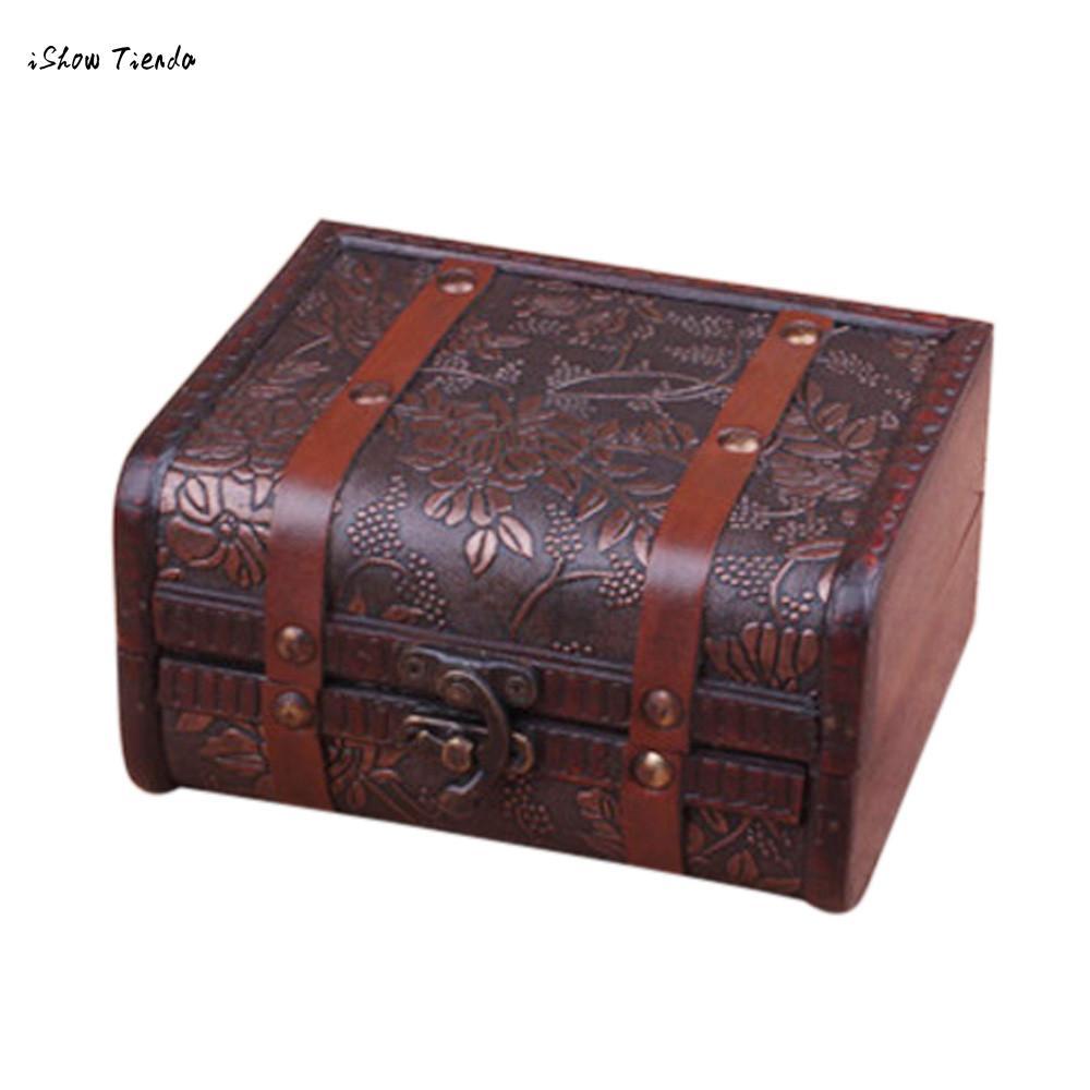 How To Make A Decorative Wooden Box: ISHOWTIENDA New 1pc 15*12*8cm Decorative Trinket Jewelry