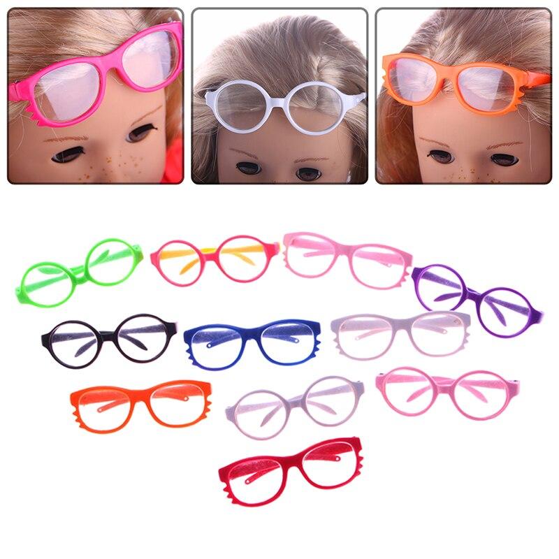 Dongzhur Color Random Style Random 18 Inch Doll Glasses Round-frame Glasses Wholesale