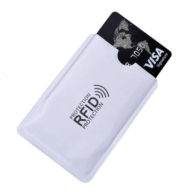 אלומיניום Rfid פירטיות מגן בנק אשראי כרטיס בעל מתכת אשראי תעודת זהות מקרה כרטיס הגנת כיסוי