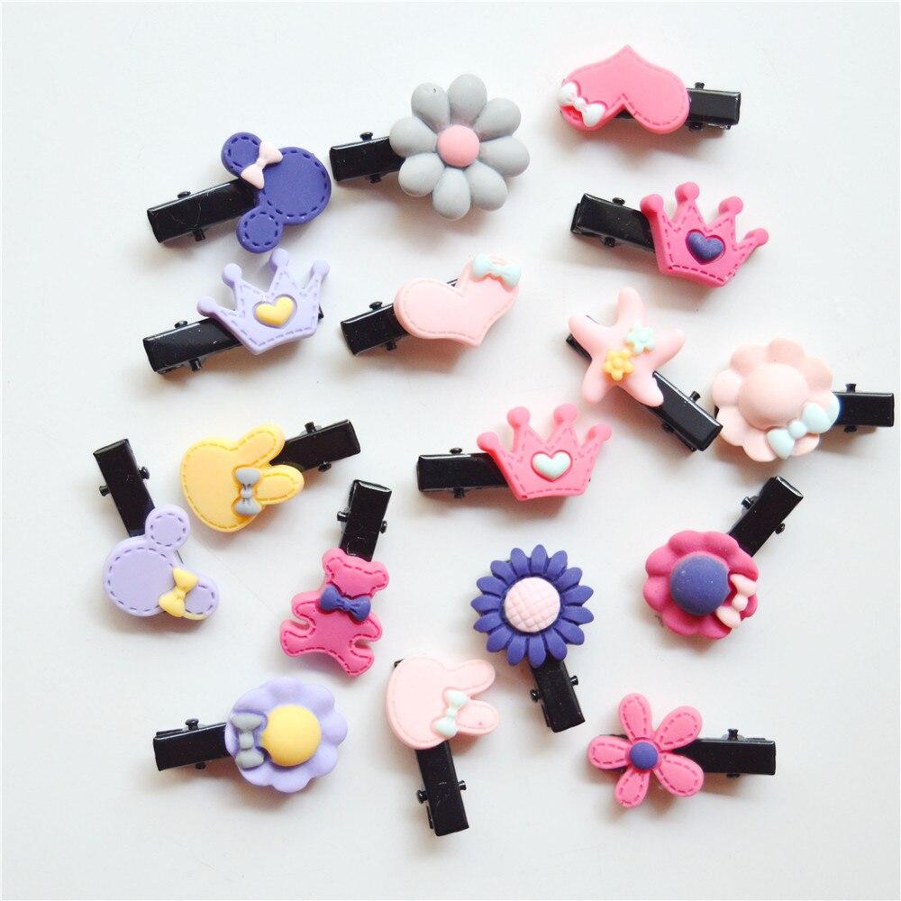 10PCS/Lot Cute Flower Bow Cartoon Girls  Hairband Hairpin Hair Clip Clip Little Girls Gifts Kids Hair Accessories