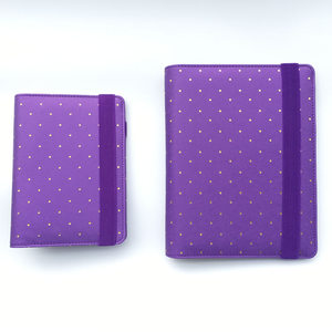 Image 2 - YIWI New A5 A6 A7 Purple Color Gold Ring Planners Agenda Notebooks Journal Kawaii DIY Stationery Wholesale Dokibook Abook