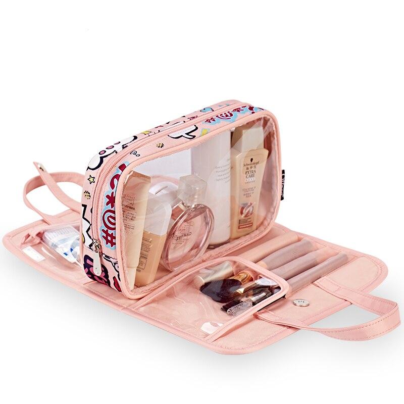 2018 Brand New Originality Woman Cosmetic Bag Multi-function Cartoon cute Travel Make up Toiletry Bags Girl High Quality Handbag