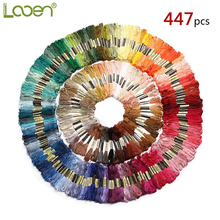 447pcs DIY Cross Stitch Threads Hand Embroidery Floss Skeins Full Range Of Colors Friendship Bracelets Crafts