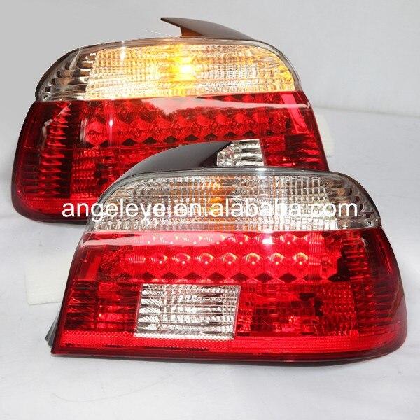 עבור BMW סדרת 5 E39 520 525 528 530 535 540 אורות זנב LED אחורי מנורת צבע לבן אדום 1995-2003 שנה LF