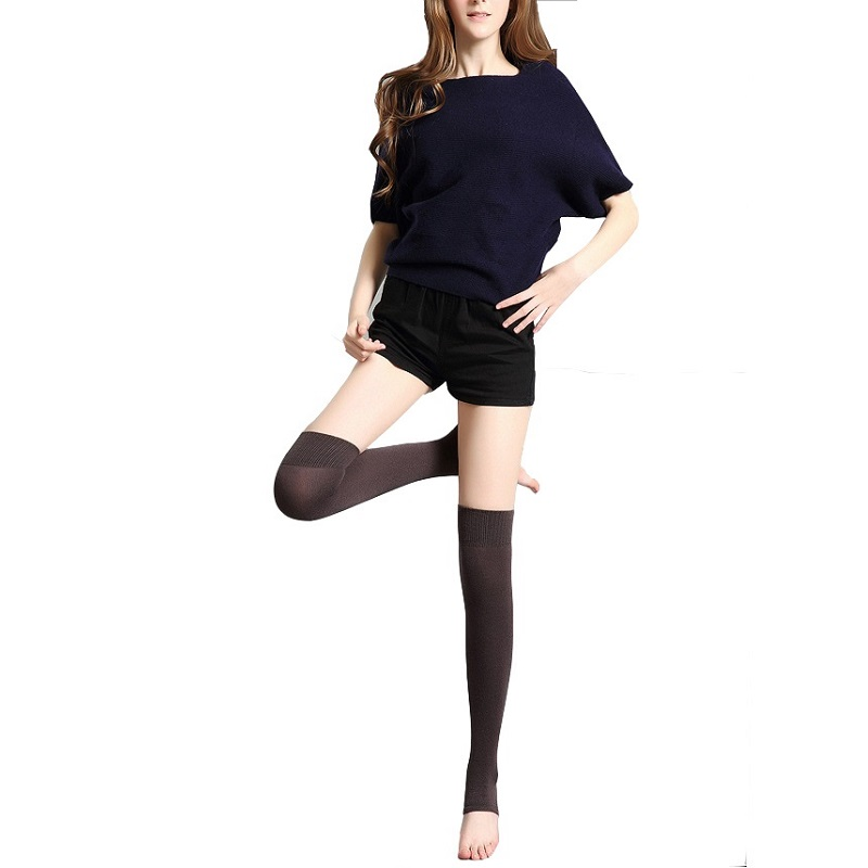 1 Pair Professional Wool Yoga Socks Adult Women Tights Keep Warm Knees Protect Solid Color Socks Dancing Ballerina Leggings