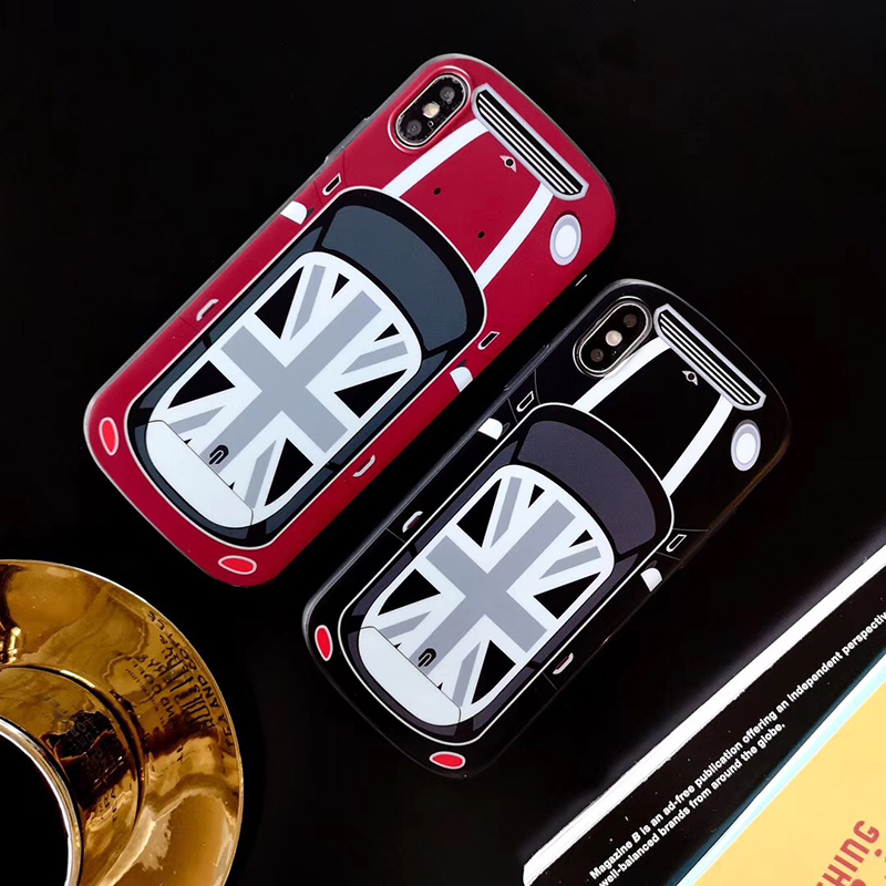 Hot Curved White Super Car Soft Silicon Coque Case For IPhone XR X XS MAX 7 8 6S Plus Luxury UK National Flag MINI Cooper Cover