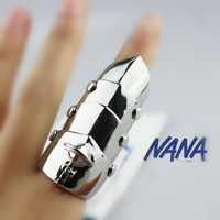 Rock Punk Gothic Goth Emo Cosplay Rings NANA Armour Armor Orbit Finger Silver Gold Ring For