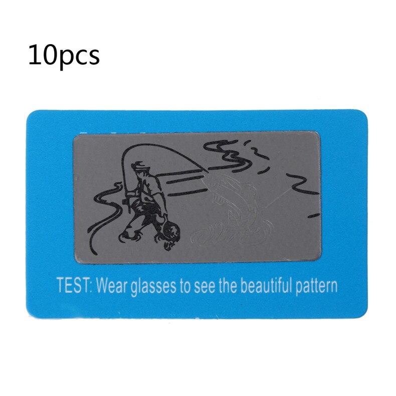 10pcs Sunglasses Polarized Test Card Shade Test Your Sunglasses Polarized Lens