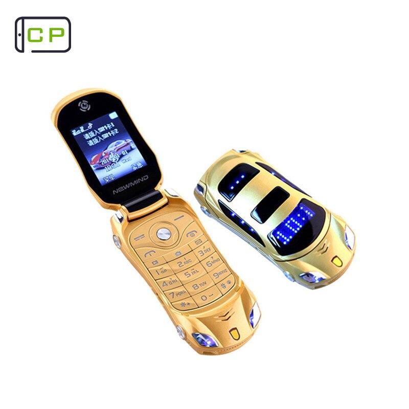 85d9b7d9d5 Originale Newmind F15 di Vibrazione Mini Telefono Cellulare Con Fotocamera  Dual SIM HA CONDOTTO LA Luce Dello Schermo da 1.8 pollici Auto di Lusso di  ...