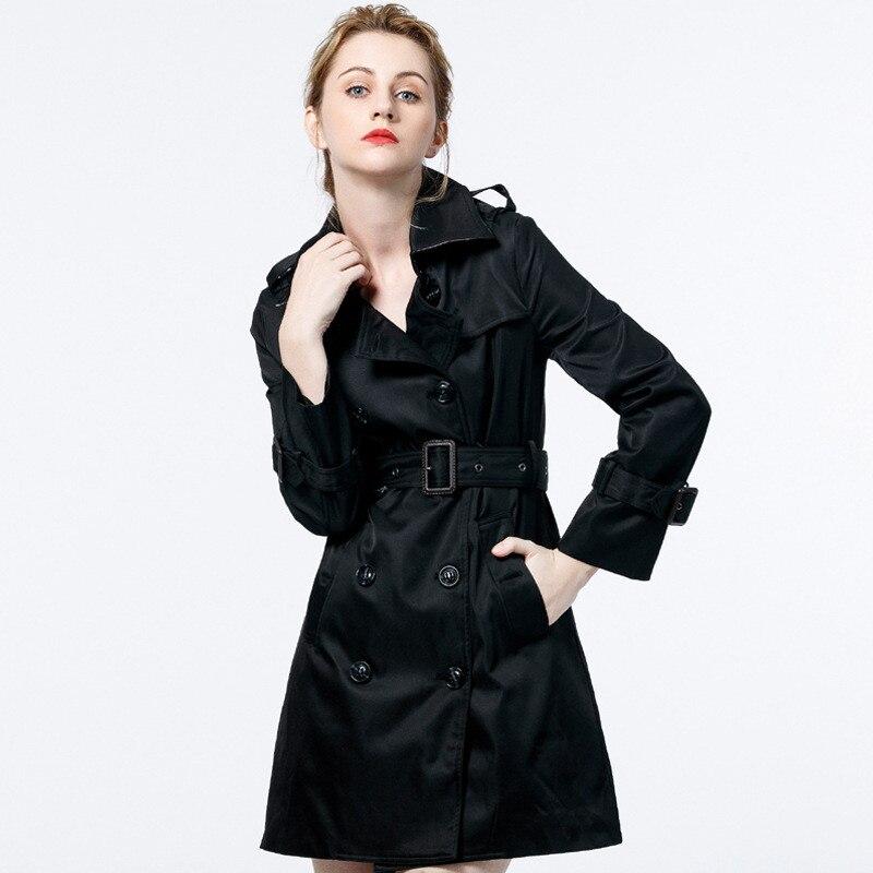Manteaux Okxgnz1948 Coupe black vent Coat Printemps Automne Apricot Pour Tempérament Trench Haute breasted Mince Femelle 2018 Femmes Double Ceinture Qualité strCxQhd