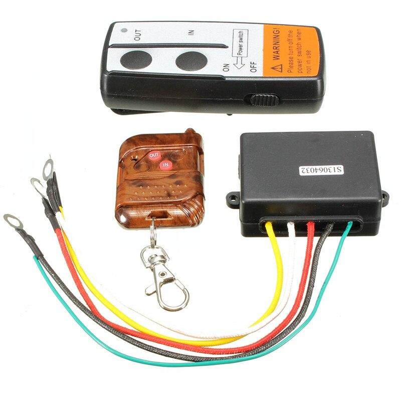 imágenes para Universal Car Wireless Winch Control Remoto Transmisor Kit 75ft 12 V Interruptor Del Receptor Del Auricular Para Jeep SUV ATV UTV