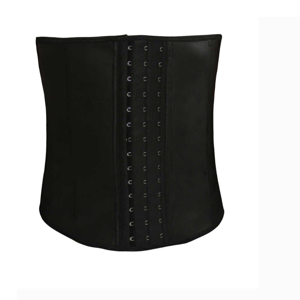 7a5751ebb7c ... Tummy Control Tightening Steel Bone Men Corset Waist Slimming Shapewear  3 Hooks Hot Rubber Latex Cincher ...