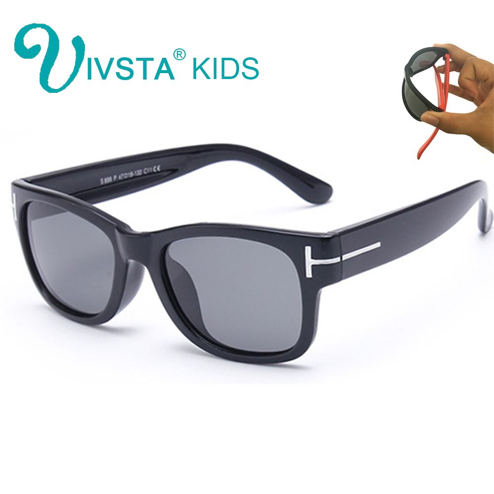 IVSTA Revo Mirror Sunglasses Boys Kids Glasses for Children rivet Square Polarized Fashion Sport Silicon Rubber Flexible 802M