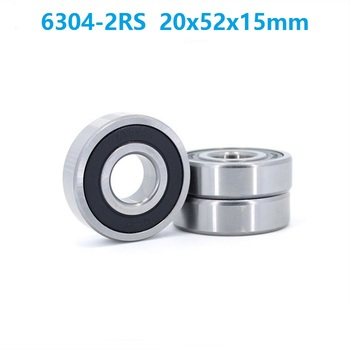 10pcs/lot 6304RS 6304-2RS 6304 RS 2RS Deep Groove rolling bearings 20*52*15mm Deep Groove Ball bearing 20x52x15mm
