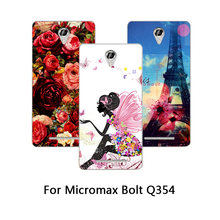 High Quality Painting Protective Soft TPU Colored Printed Phone Cases For Micromax Bolt Q354 Silicone cover For Micromax Q354(China)