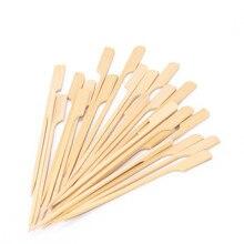 100 шт 15 см бамбуковые шампуры, палочки для барбекю, барбекю, фруктовые зубочистки, вечерние принадлежности, инструменты для улицы
