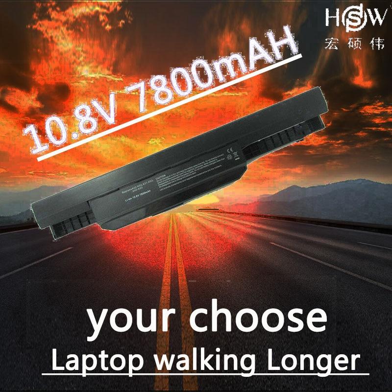 7800mAh Battery For Asus X54H X53U X53S X53SV X84 X54 X43 A43 A53 K43 K53U K53T K53SV K53S K53E k53J K53 A53S A42-K53 A32-K53 new laptop for asus a53t k53u k53b x53u k53t k53t k53 x53b k53ta k53z top lcd plamrst cover bottom cover hinges speaker jack