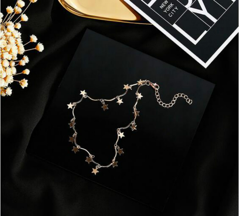 HTB18GCnSFXXXXbJXXXXq6xXFXXXg - FREE SHIPPING Chocker  Gold  Star Maxi Choker Necklace for Women JKP326