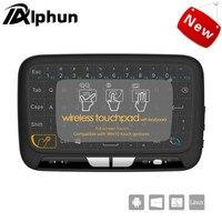 Alphun新しいh18ワイヤレスエアマウスフルタッチパッドミニキーボード2.4 ghzゲーミングタッチパッド用スマートテレビps3テレビボックスpcアンドロイドwindows
